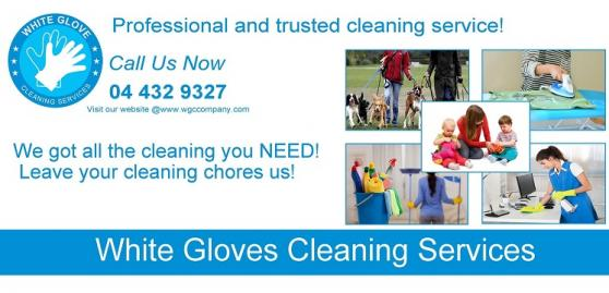 White Glove Cleaning Services offer