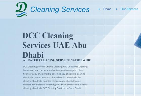DCC Cleaning Services UAE offer