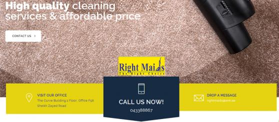 Right Maids Cleaning Services offer