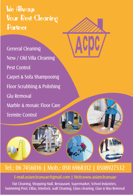 Asian Cleaning Services offers Residential Cleaning, Commercial Cleaning, Industrial Cleaning, Retail Outlet Cleaning, Pest Control, Professional Painting Services and AC Repair and Maintenance Services