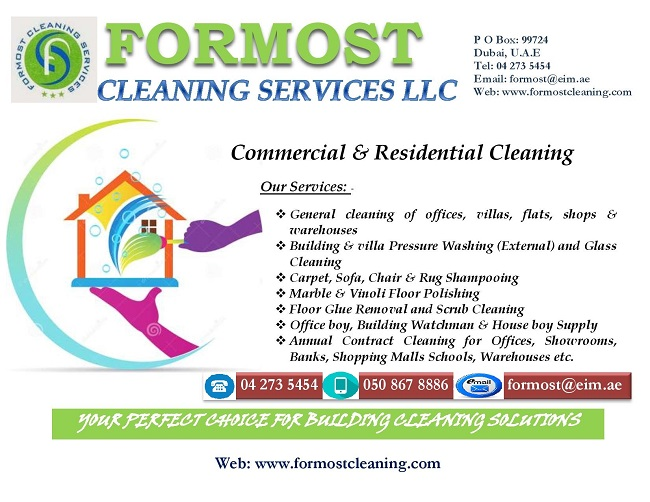FORMOST Cleaning provides a comprehensive array of cleaning services to ensure that your property is clean, sanitized, and ready for occupancy. We offer services for both commercial buildings and residential properties, with solutions that are tailored and scaled for maximum efficiency and cost-effectivity.