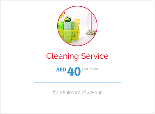 800CLEAN - Cleaning Service AED 40 per hour, for minimum of 4 Hour. We can serve you in the Morning (9am to 1pm) or Afternoon (3pm to 7pm)