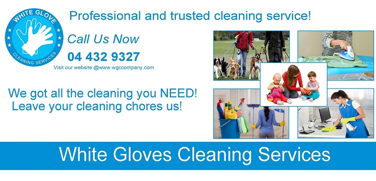 White Glove Cleaning Services offer a wide range of services such as Cleaning Services, Office Cleaning, Move-in and Move-out cleaning, Deep Cleaning, Nannies, Pet Care, Baby sitting and Party Help.