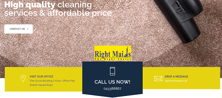 Right Maids Cleaning Services - We provide our services including House cleaning, Spring cleaning, Kitchen cleaning, Office cleaning, Window cleaning, Baby sitting, Pets care, Washing clothes & ironing, Party assistance.