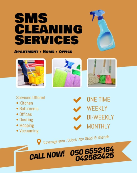 SMS Cleaning Services offer