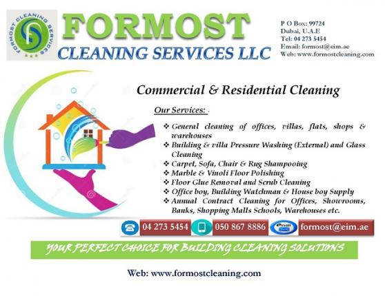 Formost Cleaning Services offer